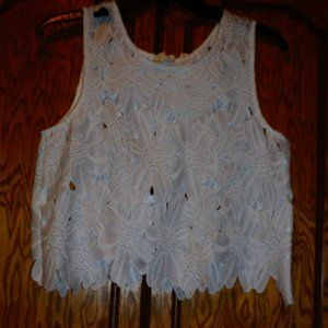 NWT Caution to the Wind Heavy Lace Crop